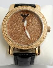 Diamond King Rose Gold Color Wristwatch