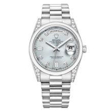 Pre-Owned Rolex ?Day-Date Platinum & Diamonds