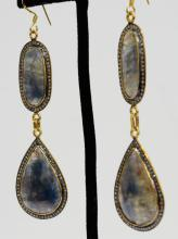 Silver & Gold Earrings Appraised Value: $4,800