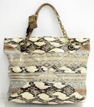 Lanvin Paris Snakeskin Shoulder Bag (EXCELLENT CONDITION)