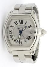 Cartier Roadster Stainless Steel Watch with Extra Adjustable Strap