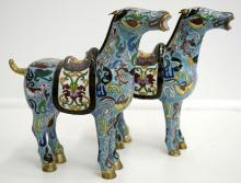 Cloisonne Chinese Horse Pair
