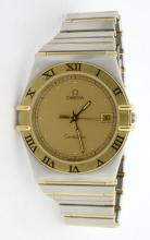 Omega Constellation Two Tone Wristwatch