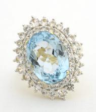 Topaz & Sapphire Ring