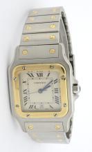 Cartier Santos Two Tone Mens Wristwatch