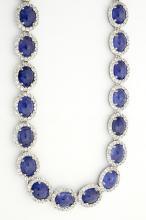 Tanzanite & Sapphire Necklace