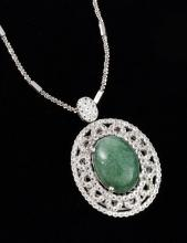 Emerald/Beryl & Topaz Necklace