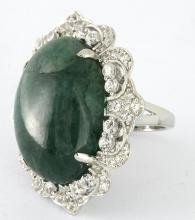 Emerald/Beryl & Sapphire Ring