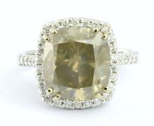 HUGE 6.25 CT CENTER Diamond Ring (GIA CERTIFIED)