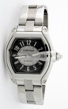 Cartier Roadster Gray Dial Stainless Steel Mens Wristwatch