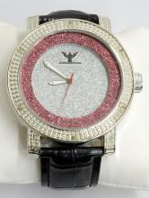 Diamond King Gray & Red Circle Watch