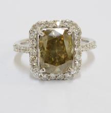 2.14 CT Center Diamond Ring 2.84 CTW