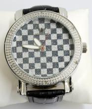 Diamond King Checkerboard G&W Watch