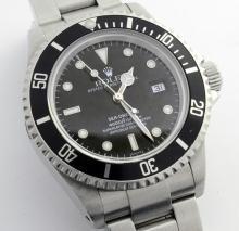 Rolex Sea-Dweller Black Dial & Bezel Wristwatch