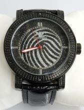 Diamond King Gray & Black Stripes Watch