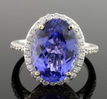 Tanzanite & Diamond Ring (GIA CERTIFIED)