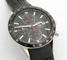 Tag Heuer Carrera Black Dial Mens Wristwatch