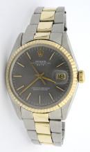 Rolex Date Two Tone Wristwatch