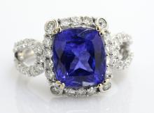 Tanzanite & Diamond Ring