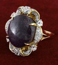 Star Ruby & Sapphire Ring