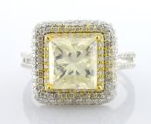 3 CT Center Diamond Ring 3.93 CTW
