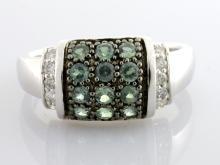 Alexandrite & Diamond Ring (GIA CERT.)