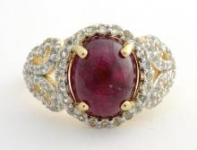 Ruby & Topaz Ring