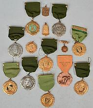 (14) MISC. EARLY 20TH CENT. TRACK AND FIELD ETC. - PRIZE MEDALS