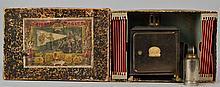 19TH CENT. GERMAN LATERINA MAGICA - MAGIC LANTERN SET WITH SLIDES IN THE ORIGINAL BOX