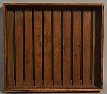 19TH CENT. - EARLY 20TH CENT. N.E. WOVEN SLAT BASED SORTING TRAY