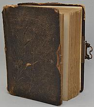 19TH CENT. VICTORIAN PHOTOGRAPH ALBUM WITH CABINET PHOTOGRAPHS