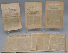 (9) MISC. 19TH CENT. PROHIBITION AND TEMPERANCE PUBLICATIONS FROM N.Y. & CT.