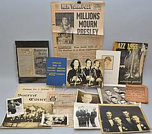 COLLECTION OF VINTAGE MUSIC AND BAND EPHEMERA