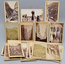 (19) MISC. 19TH CENT. MOUNTED ALBUMIN PHOTOGRAPHS OF COLORADO BY W.E. HOOK, W.H. JACKSON AND OTHERS