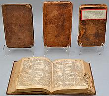(4) EARLY 19TH CENT. LEATHER BOUND BOOKS