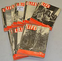(44) MISC. LIFE MAGAZINES FROM 1939-1948
