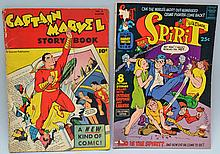 VINTAGE CAPTAIN MARVEL AND SPIRIT COMIC BOOKS