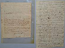 1793 SURRY N.H. TOWN MEETING MINUTES AND 1801 VOTER'S WARRANT