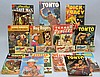 (10) VINTAGE 10 CENT COMIC BOOKS WITH (2) 25 CENT ANNUALS, 25 CENT WESTERN MAGAZINE & (4) GENE AUTRY MINI COMIC BOOKS