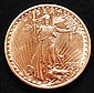 1908 U.S. GOLD SAINT GAUDENS $20 COIN W/ NO MOTTO