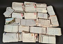 LARGE TRAY LOT OF EARLY 20TH CENT. POSTAL HISTORY & CORRESPONDENCE