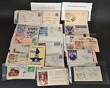 APPROX. (77) MISC. W.W. II PATRIOTIC ILLUSTRATED POSTAL HISTORY COVERS