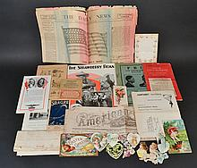 LOT OF MISC. 19TH CENT. & 20TH CENT. PAPER EPHEMERA