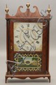 E. TERRY & SONS PILLAR & SCROLL SHELF CLOCK W/ LABEL