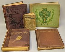 AMERICAN ART -  4 Volumes [+ 1 other - Gospel Book]