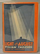 Light in August by William Faulkner - FIRST EDITION / FIRST ISSUE / WITH DUST JACKET
