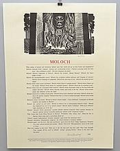 BROADSIDE - MOLOCH.  SIGNED BY ALLEN GINSBERG AND LYND WARD