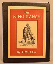 The King Ranch by Tom Lea - 2 Volumes, in Slipcase - INSCRIBED & SIGNED BY THE AUTHOR