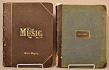 Bound Music and Song Sheets - 2 Volumes