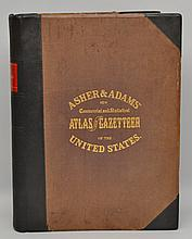 Asher & Adams' New Commercial, Topographical, and Statistical Atlas and Gazetteer of the United States: With Maps Showing The Dominion of Canada, Europe and the World